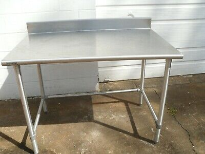 Used Stainless Steel 48l X 30w X 35h Heavy Duty Commercial Food Prep Table
