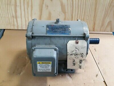 Teco 5hp 3 Phase Electric Motor Dt0054 230460v 1740 Rpm 1-18 Shaft  S39