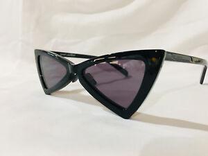 f41fa5a63d Authentic New Saint Laurent Sunglasses Jerry SL207 S Cat-Eye YSL Black  Triangle