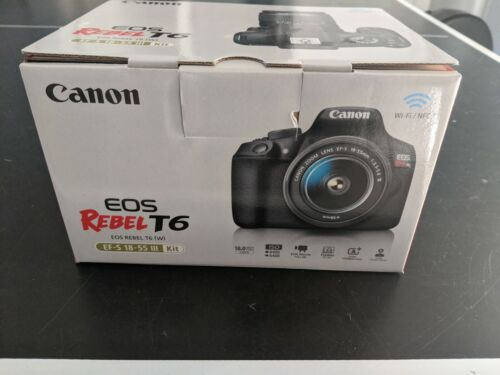 Canon EOS Rebel T6 Digital SLR Camera Kit w/ EF-S 18-55mm IS IlI Lens Brand New