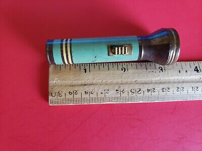 Vintage 1930s Art Deco Inspired Flashlight Pocket Size Clean Chamber Eveready?