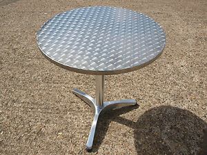Brand New Aluminium Round Outdoor Pedestal Bistro / Restaurant / Cafe Tables