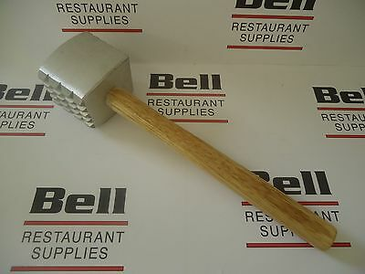 New Update Mt-al Meat Tenderizer Mallet Hammer W Wood Handle - Free Ship