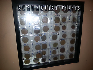 Coins collection in frame Macleod Banyule Area Preview