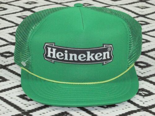 Vintage Heineken Beer Hat Cap Lid Snapback trucker unworn