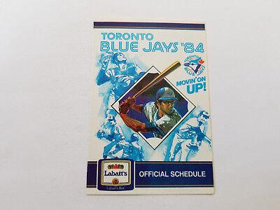 Toronto Blue Jays 1984 MLB Baseball Pocket Schedule - Labatt's