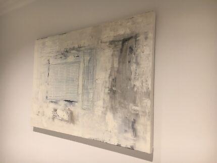 Modern monochrome painting