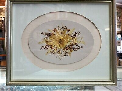 Dried Pressed Flowers Framed approximately 9 x 11