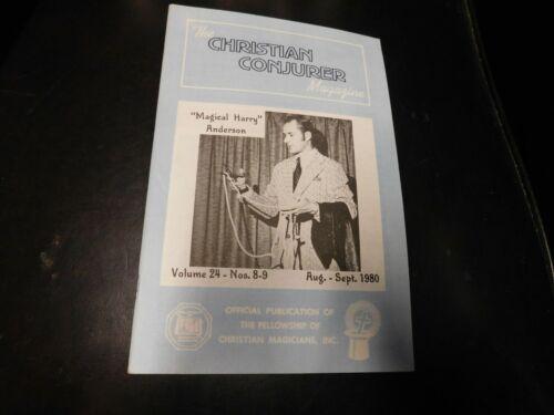 The Christian Conjurer Magic Magazine August September 1980 Harry Anderson