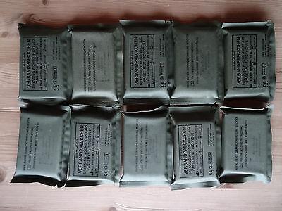10 x Bw-Verbandpäckchen(oliv), Depotbestand; nur für Ausbildungszwecke (2020)