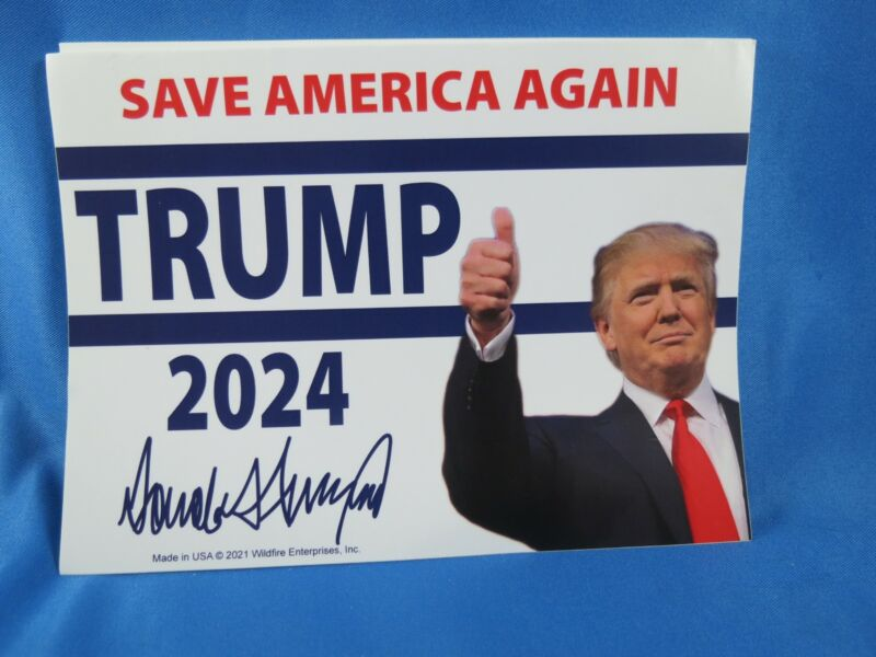 WHOLESALE LOT OF 10 TRUMP 2024 STICKERS Save America Again Make Great Photo Tie