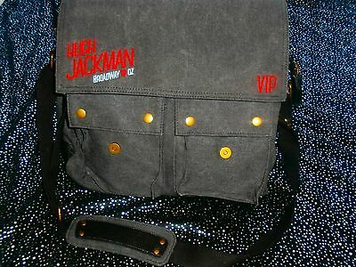 RARE QUALITY VIP Hugh Jackman Fashion Bag LEATHER & DENIM BACK ON BROADWAY TO OZ