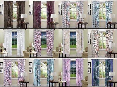 Indian Mandala Room Decor Window Mandala Vorhang Balkon Vorhänge Vorhänge Werfen - Baumwolle Indian Werfen