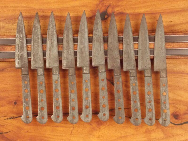 10 Sabatier 4 inch Chefs Knife Blanks Carbon Steel French Vintage