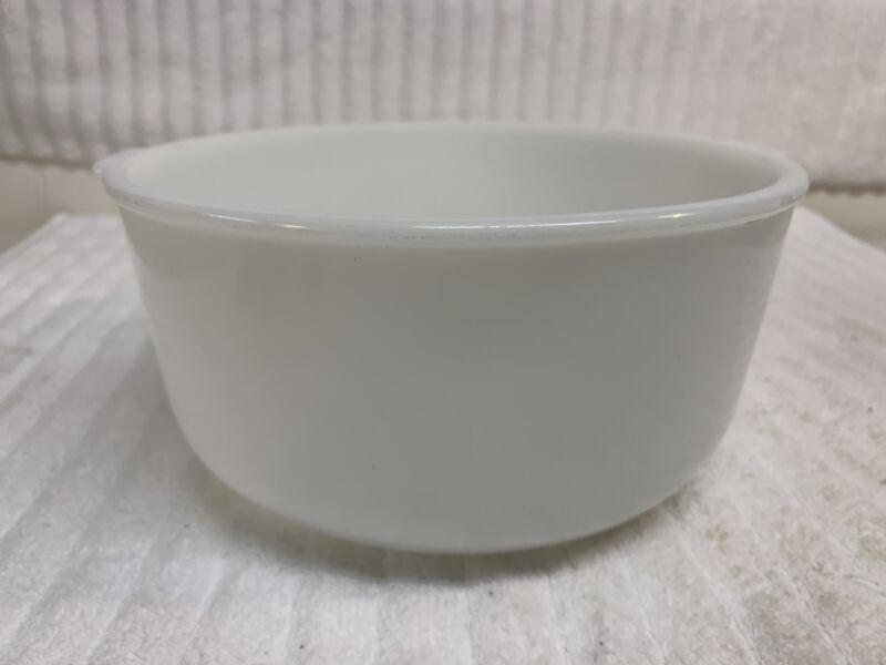 Vintage Glasbake Made for Sunbeam 19CJ Large White Milk Glass Mixer Mixing Bowl