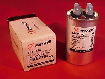 Run Cap 15uf Mfd 370vac Electric Motor Run Oil Filled Capacitor Uf Hvac