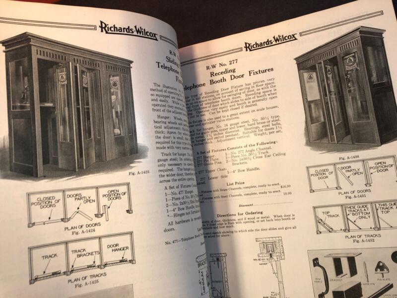 1927 DOOR CATALOG Phone Booth, Elevator, Garage, Store,Hardware Richards-Wilcox