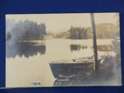 Rescue Lake Ludl ow Vermont 9-S, Old Wooden Boat RPPC Unused B&W PC10