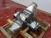 """Kice Diverter Valve 6708-2 8"""" Air Blower W/ (2) UniToq M222 Actuators"""