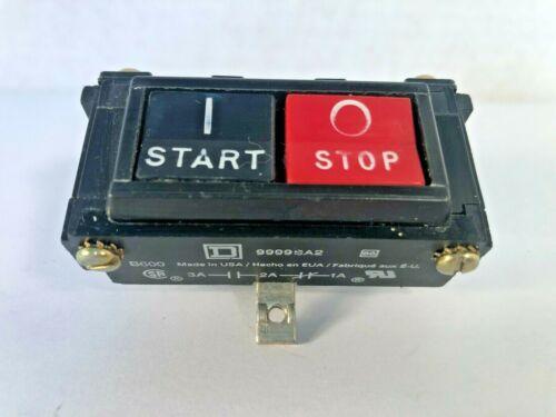 SQUARE D 9999SA2 Start Stop Push-Button 9999 SA-2