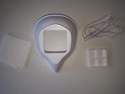 Schutzmaske aus PP mit Filterauflagen aus PET - NEU