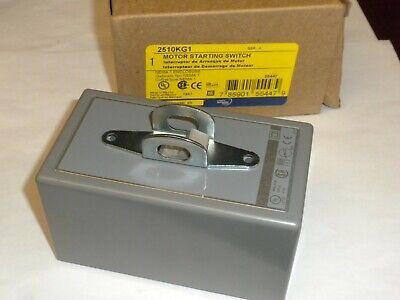 Square D2510kg1 Motor Starting Switch Locking Nema 1 30a 600v Nib