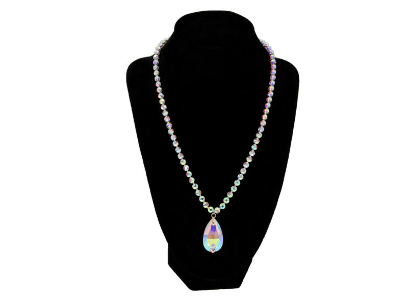 Women Belly Ballroom Dance Jewelry Accessories Necklace Crystal AB