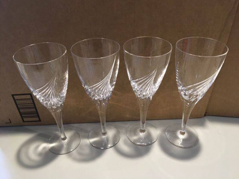Each Flight Atlantis Cut Crystal  Water Goblet