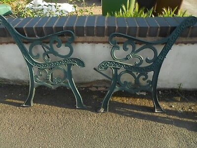 Vintage Iron Bench / Chair ends Cast Iron Garden -