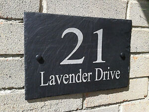 Personalised-Slate-House-Door-Gate-Number-Sign-Plaque-Any-Name-Number-A-3