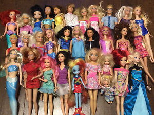 Barbies, dolls, etc.