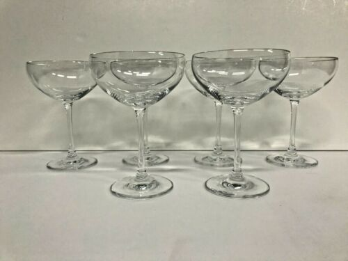 """set of 6 Schott Zwiesel Champagne Cocktail Coupes 6"""" high"""