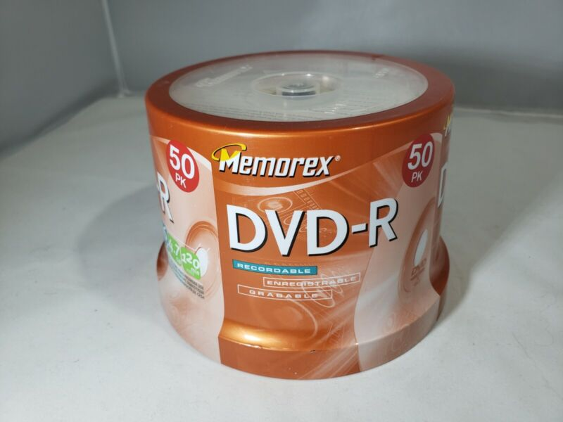 Memorex DVD-R 50 Pack Spindle 16x 4.7GB 120 Min Video 329155 NEW SEALED