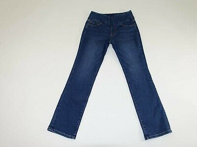 Jag Women's High Rise Straight Leg Jeans Size 6 Petite high Rise Blue Pull On 6P