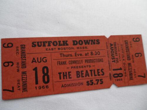THE BEATLES 1966 Original__UNUSED__CONCERT TICKET__Suffolk Downs__EX++
