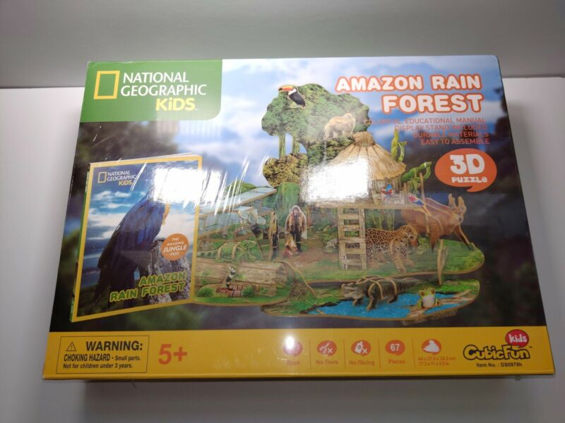 New National Geographic Kids Amazon Rain Forest 3D Puzzle Educational Nature