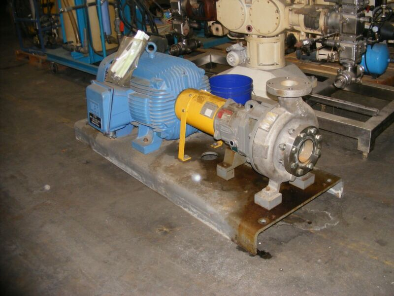 Flowserve Durco Mark III, Size: 2K4X3-10RV/10 Centrifugal Pump w 100HP Motor