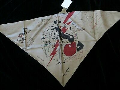 NWT Burberry 100% Silk Triangles Scarf MADE IN ITALY