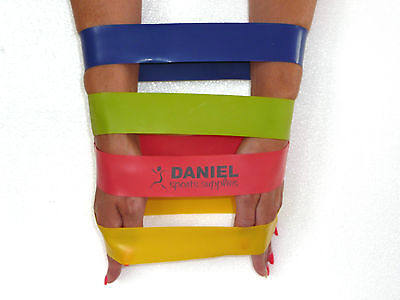 RESISTANCE BAND LOOP EXERCISE, KNEE/THIGH,ANKLE CIRCLE 4 PK, REHAB, PHYSIO,TONE