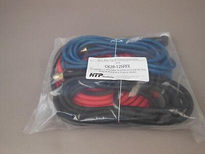 12.5 Ck20 Flex Neck Water Cooled Tig Torch W Super Flex Cables Ck20-12sffx