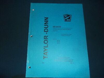 Taylor Dunn Mb-248-06 B2-38 B2-48 B254 Truck Operation Maintenance Manual Book
