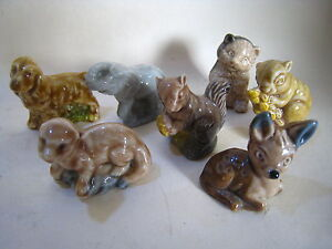 WADE WHIMSIES JOB LOT/COLLECTION: MOUSE, BEAR, OTTER, FAWN, ELEPHANT etc PERFECT