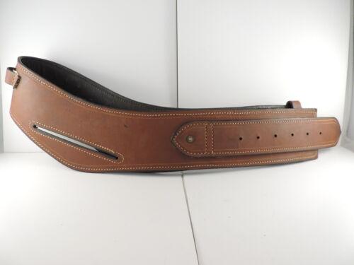 Double Buscadero Brown Leather Gun Belt Size 34 6 Rnds 45 Long Colt