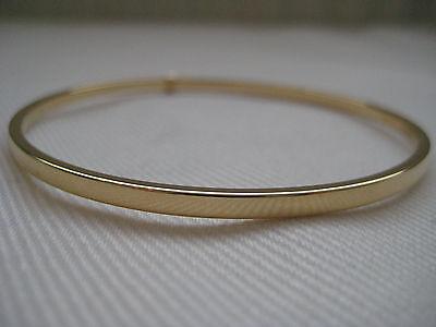Gold slave bangle 9 carat yellow gold 3mm