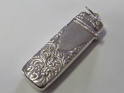 RECTANGULAR STERLING SILVER ORNATE  NEEDLE CASE - NEW (LAST ONES!)
