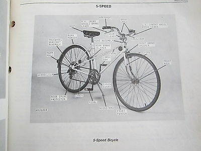 1978 JD JOHN DEERE BICYCLES PARTS CATALOG MANUAL