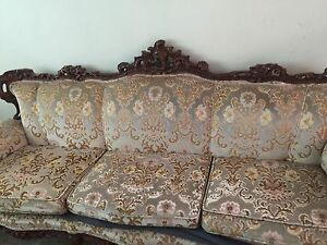 Set of antique couch, love seat & chair