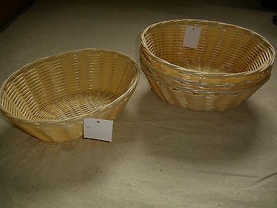 4 Stück Brotkorb, oval, Poly-Ratta, Durchm. 23 cm, spülmaschinengeeignet,  Neu