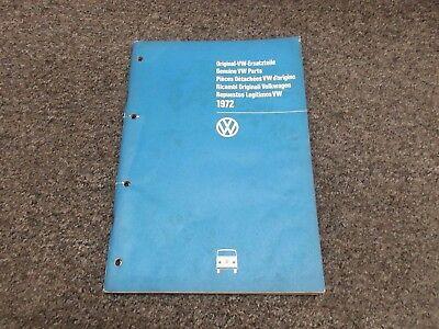 1968 1969 1970 1971 1972 Volkswagen VW Bus Transporter Parts Catalog Manual