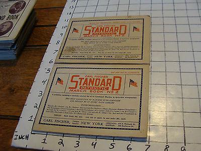 BAND BOOKS: 2 Carl Fisher STANDARD PATRIOTIC March Book #2 cornets, trombones